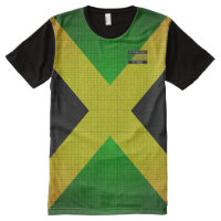 Jamaica Flag Colors Black Yellow Green T-Shirt