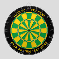 Jamaica Flag Colors Dartboard with Custom Text