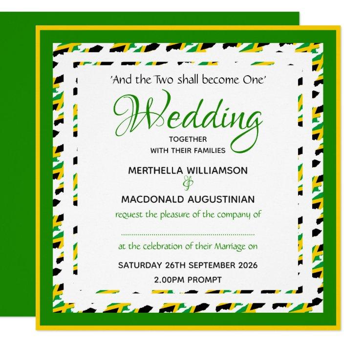 Patriotic Square Wedding Invitation