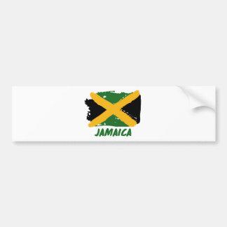 Jamaica flag design bumper sticker