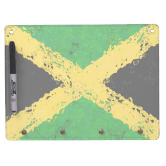 JAMAICA FLAG DRY ERASE BOARD WITH KEYCHAIN HOLDER