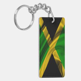 Jamaica Flag Fabric Keychain
