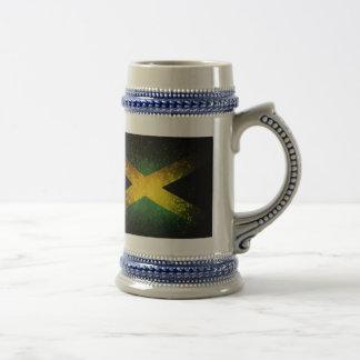 Jamaica Flag Firework 18 Oz Beer Stein