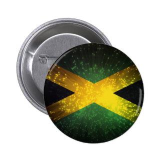 Jamaica Flag Firework Pinback Button