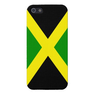 Beach Themed Jamaica Flag - Green, Yellow and Black iPhone SE/5/5s Cover