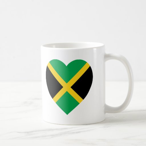 Jamaica Flag Heart Mug