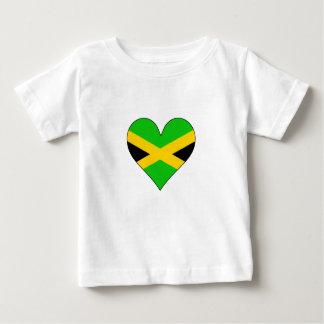 Jamaica Flag Heart T-shirt
