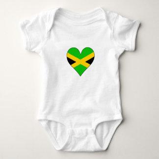Jamaica Flag Heart Tee Shirt