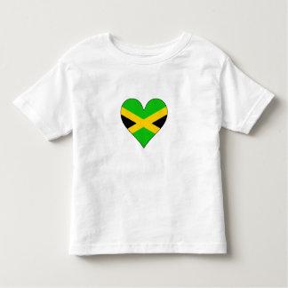 Jamaica Flag Heart Tshirts