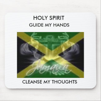 jamaica flag, HOLY SPIRIT, GUIDE MY HANDS, CLEA... Mouse Mats