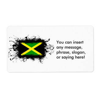 Jamaica Flag Shipping Label