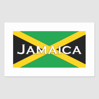 Jamaica Flag Logo Rectangular Sticker