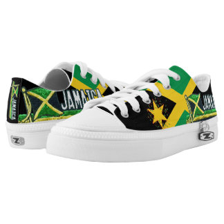 Jamaica Flag Low top Lace Up Sneakers Printed Shoes