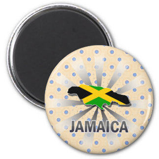 Jamaica Flag Map 2.0 Magnets