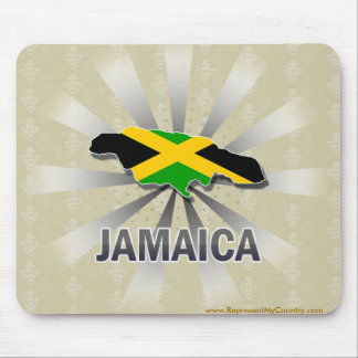 Jamaica Flag Map 2.0 Mouse Pad