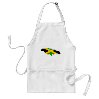 Jamaica Flag Map full size Aprons