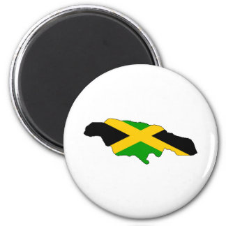 Jamaica Flag Map full size 2 Inch Round Magnet