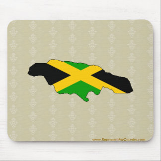 Jamaica Flag Map full size Mouse Pad