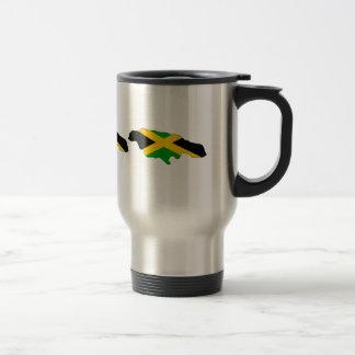 Jamaica Flag Map full size 15 Oz Stainless Steel Travel Mug