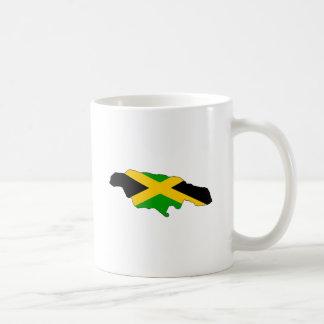 Jamaica Flag Map full size Classic White Coffee Mug