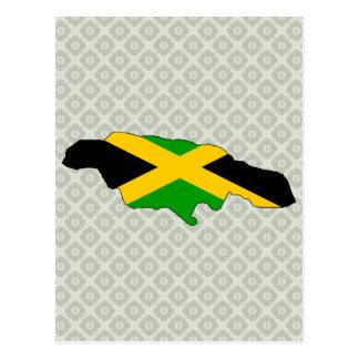 Jamaica Flag Map full size Postcard