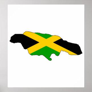 Jamaica Flag Map full size Poster