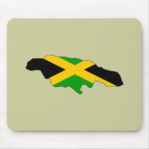 Jamaica flag map mouse mats