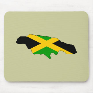 Jamaica flag map mouse pad