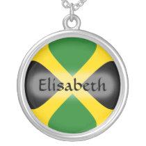Jamaica Flag   Name Necklace