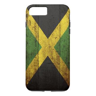 Jamaica Flag on Old Wood Grain iPhone 7 Plus Case