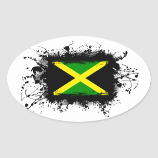 Jamaica Flag Oval Sticker