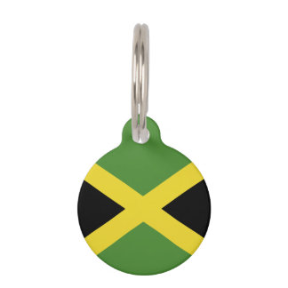 Jamaica Flag Pet Name Tag