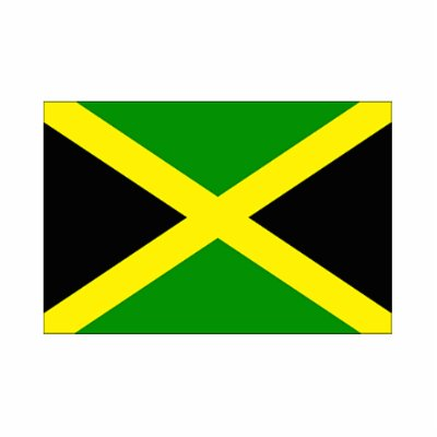 Photo Cut-out featuring the Jamaican Flag
