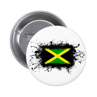 Jamaica Flag Pinback Button