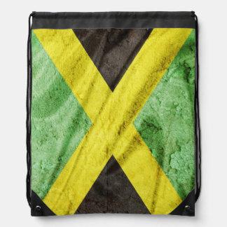 Jamaica flag drawstring backpack