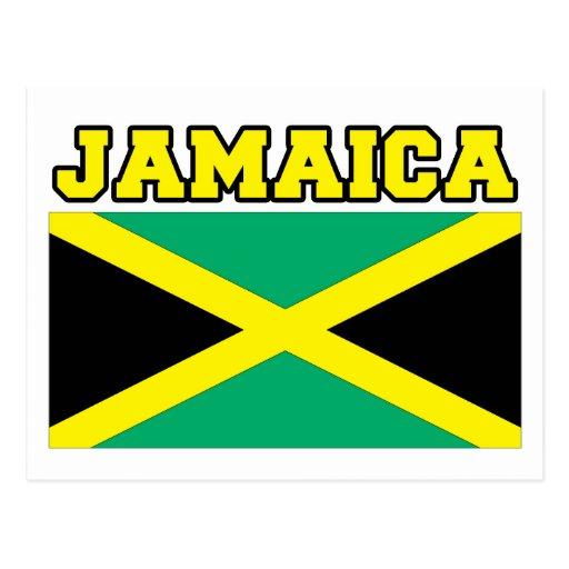Jamaica Flag Post Card
