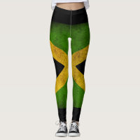 Jamaica flag - Proud Jamaicans - Yoga Leggins Leggings
