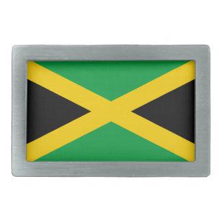 Jamaica flag rectangular belt buckle