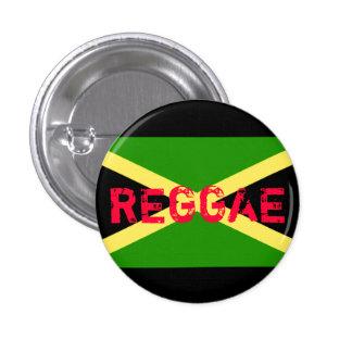 jamaica flag, REGGAE Pinback Button
