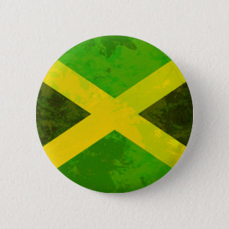 jamaica flag - reggae roots button