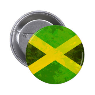 jamaica flag - reggae roots button