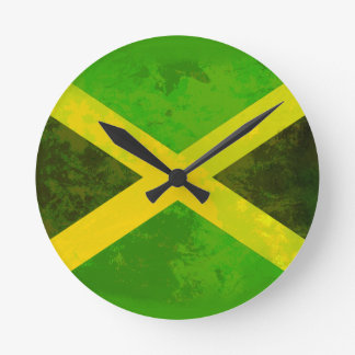 jamaica flag - reggae roots wallclocks