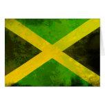 jamaica flag - reggae roots greeting card