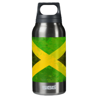 jamaica flag - reggae roots insulated water bottle