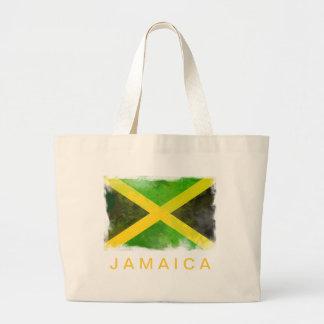 jamaica flag - reggae roots large tote bag