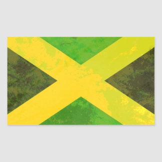 jamaica flag - reggae roots rectangular sticker