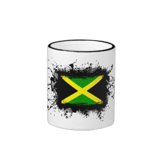 Jamaica Flag Ringer Mug