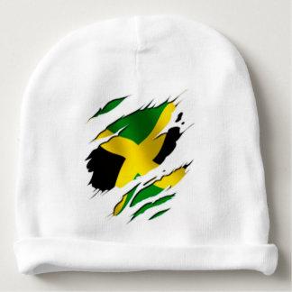 Jamaica flag ripped baby beanie