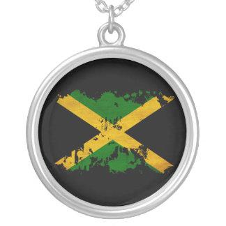 Jamaica Flag Round Pendant Necklace