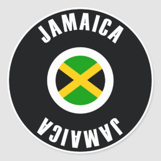 Jamaica Flag Simple Classic Round Sticker